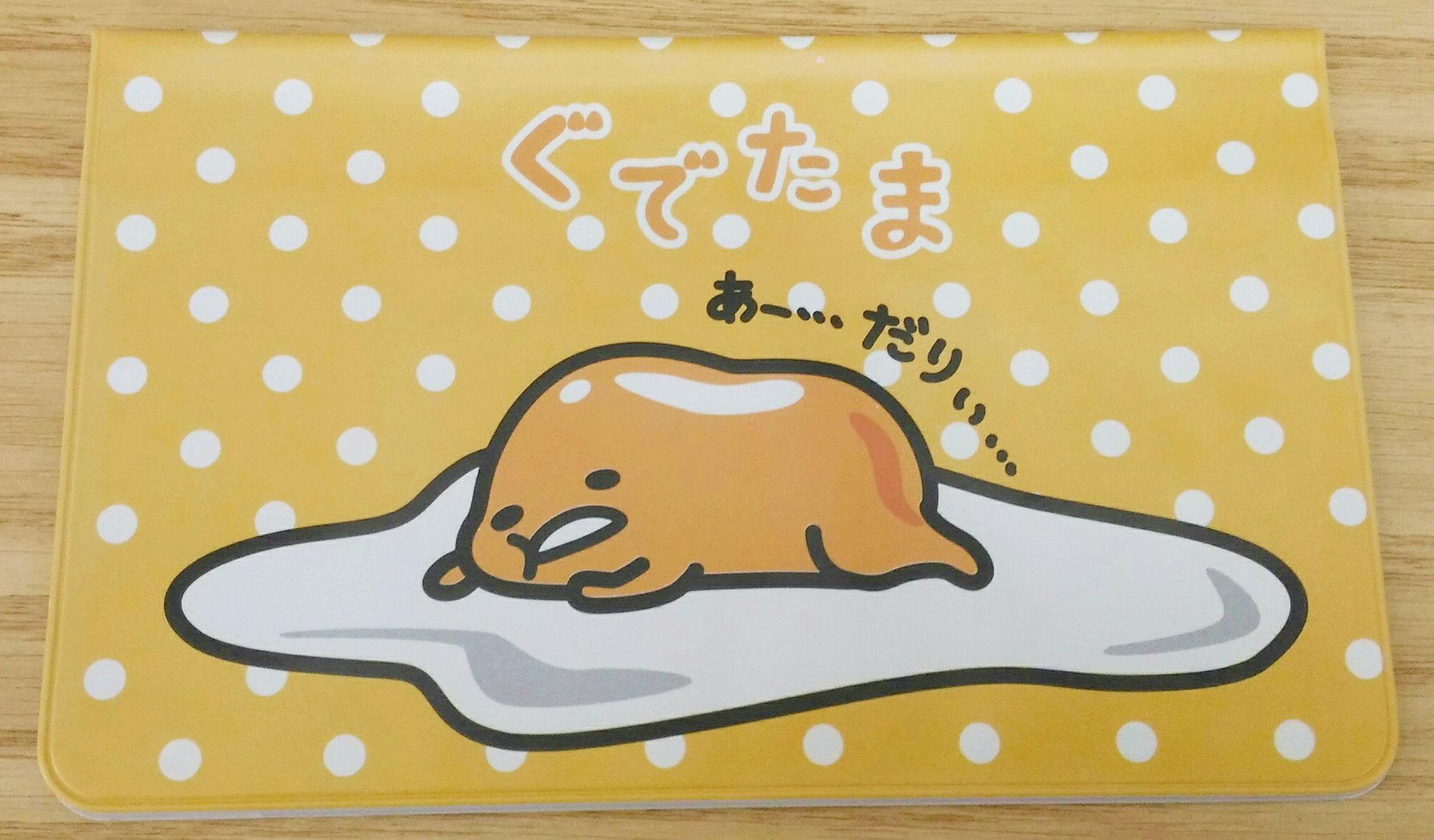 【真愛日本】17111700057 卡片存摺護套-蛋黃哥慵懶 三麗鷗 蛋黃哥 存摺保護套 日本帶回
