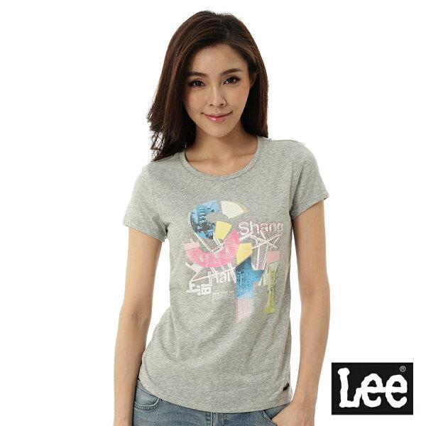 Lee Jeans tw:【精選上衣3.5折】Lee城市短袖T恤-女-灰【單筆消費滿1000元全會員結帳輸入序號『CNY100』↘折100