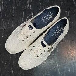 Keds Taylor Swift 泰勒絲 聯名款 簽名款 附簽名吊飾 白色 米白色 愛心 牛仔布 刺繡 修長 限量款 限時贈送購物袋
