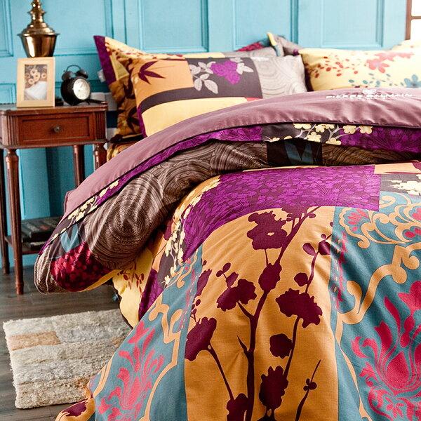 床罩組雙人-100%精梳棉【PB-豐收】六件式床罩組,台灣製,戀家小舖