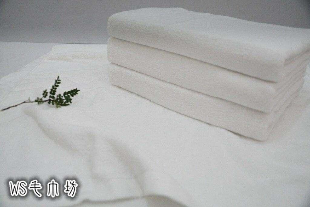 ~WS毛巾坊~ 製100^%純棉 家用純白柔軟浴巾~12兩~