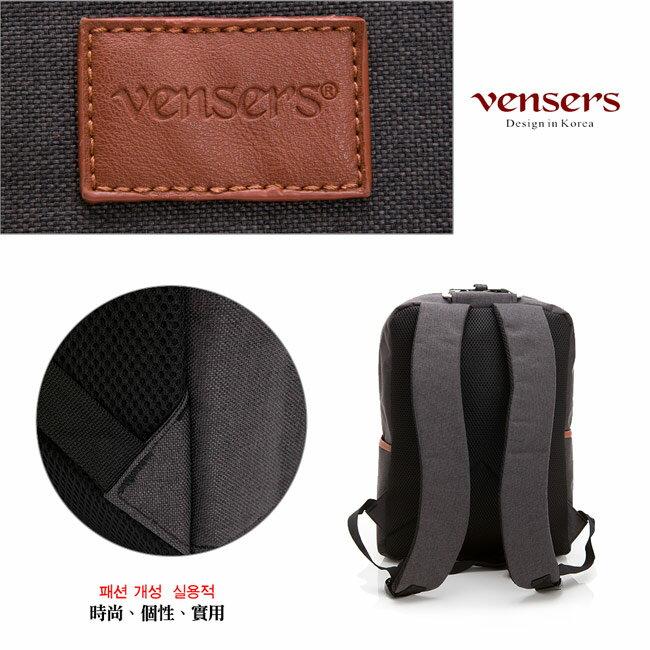 【vensers】簡約丹寧牛仔後背包(R00066301黑色) 4