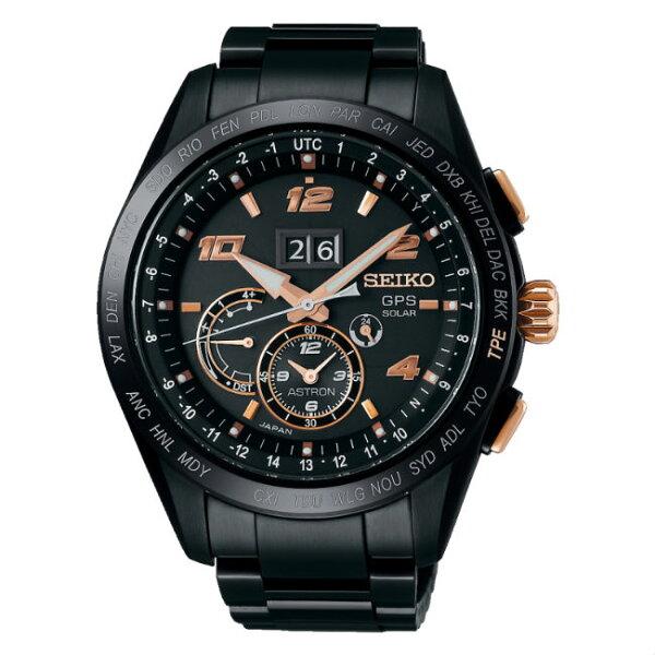 SeikoAstron8X42-0AF0K(SSE163J1)太陽能GPS對時大視窗日期鈦金屬腕錶台灣限定款44.8mm