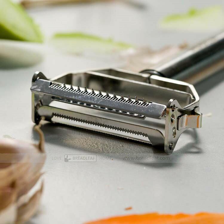 【 SHOP】BREADLEAF 不鏽鋼削皮刀 果蔬水果刨刀 蘋果削皮器 刮皮刀 去土豆皮刮皮刀【B066】