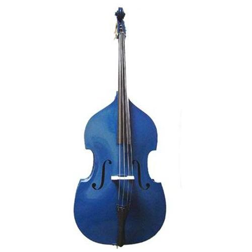 Merano MB400BL 4/4 Size Blue Double Bass with Bag and Bow