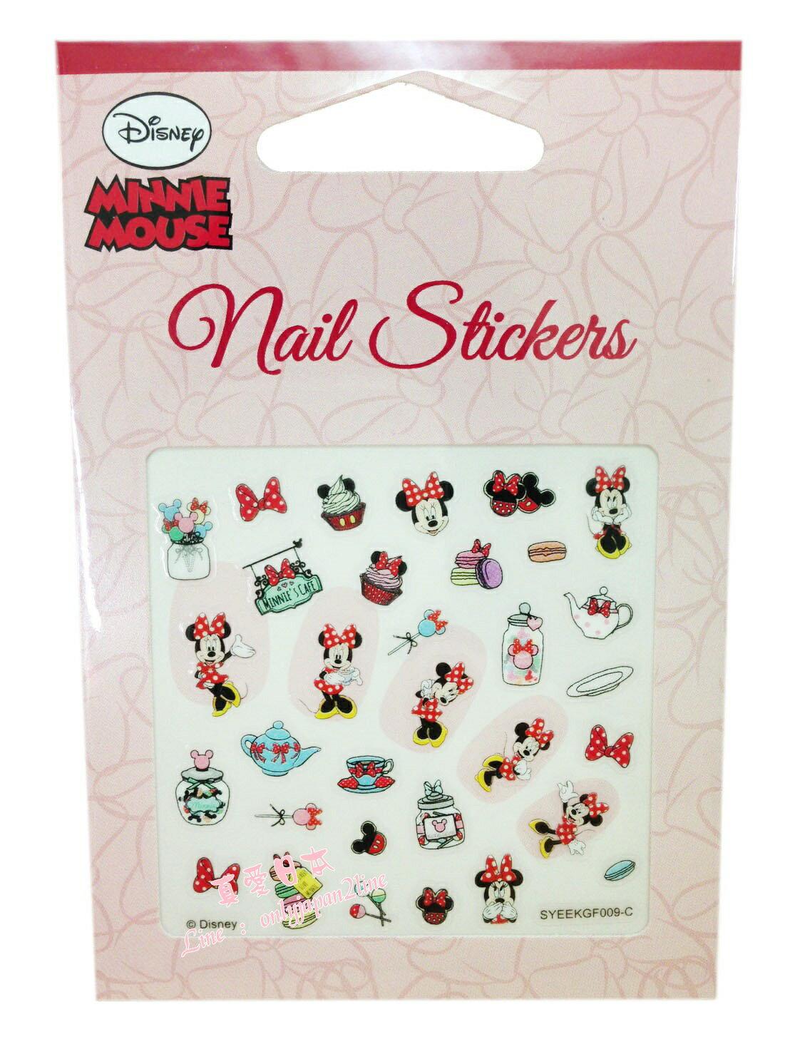 【真愛日本】16080600002彩繪美甲貼-甜點米妮   迪士尼 米老鼠米奇 米妮   指甲彩繪 貼紙