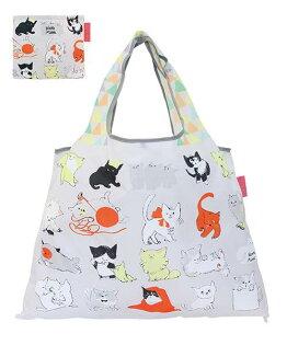 DESIGNERSJAPAN日本PRAIRIEDOG摺疊購物袋(CatPattern)★2wayshoppingbag