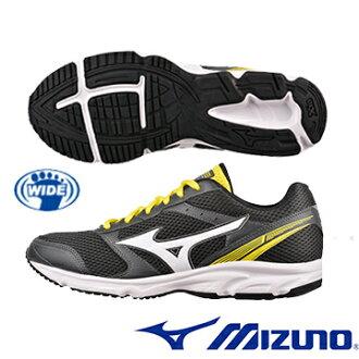 K1GR161271(黑X白X黃)基本入門型鞋款 MAXIMIZER 18 寬楦男慢跑鞋 A【美津濃MIZUNO】
