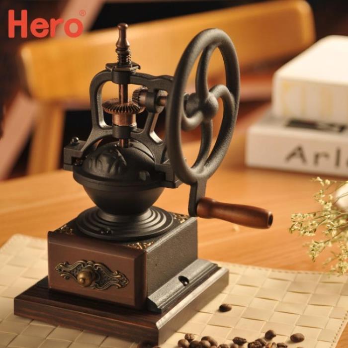 Hero手搖磨豆機家用咖啡豆研磨機復古手動磨豆機咖啡磨粉機 - 限時優惠好康折扣