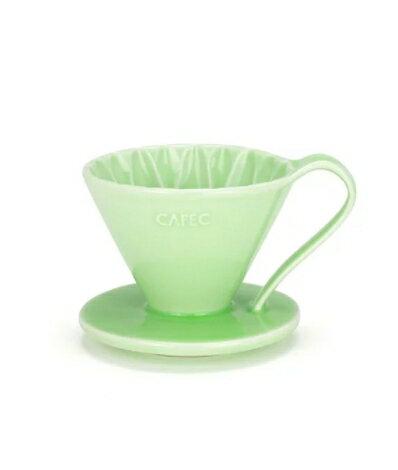 金時代書香咖啡 CAFEC Flower Dripper 花瓣濾杯 2-4人 綠色 CFD-02-GR