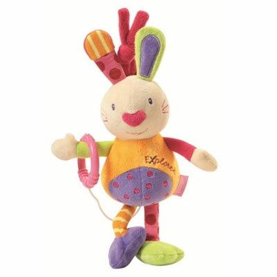 【悅兒樂婦幼用品?】babyFEHN 芬恩 探險家迷你兔拉環音樂