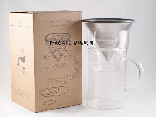 ~愛鴨咖啡~KINTO 耐熱玻璃濾壺組 SCS~04~CJ~ST 600ml 27652