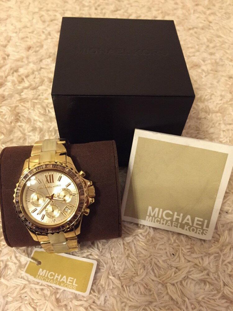 美國Outlet正品代購 MichaelKors MK 精鋼 水鑽  陶瓷  三環 手錶 腕錶 MK5874 3
