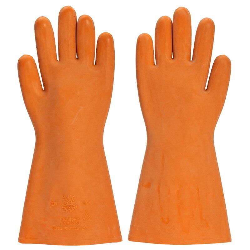 盛安牌12KV絕緣手套高壓防電耐磨電工防水帶電安全操作橡膠手套