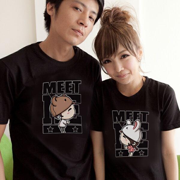 T恤 情侶裝 客製化 MIT 製純棉短T 班服◆ 出貨◆ 配對情侶裝.MEET 娃娃【YC506】可單買.艾咪E舖