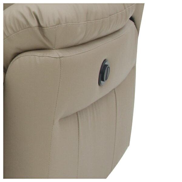 ◎(OUTLET)半皮4人用電動可躺式沙發 MEGA MO 福利品 NITORI宜得利家居 3