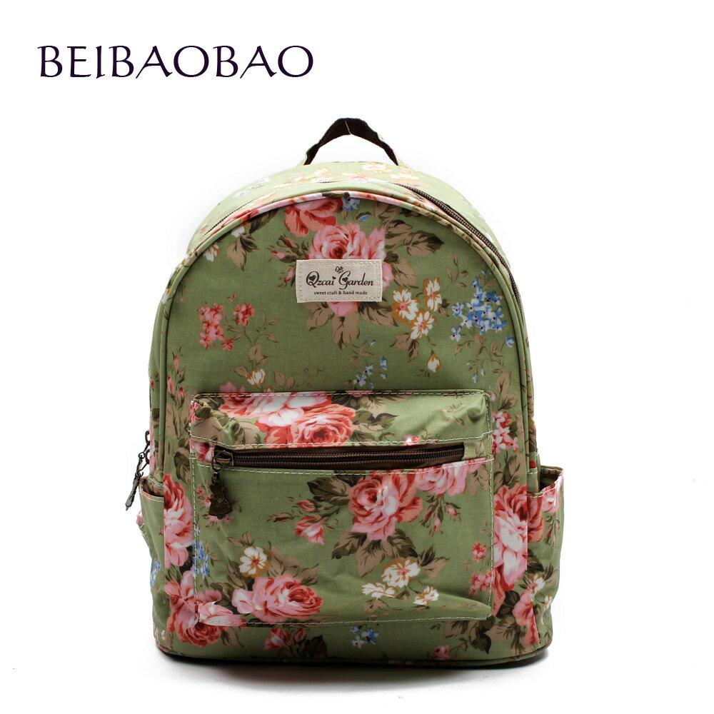 【BEIBAOBAO】玫瑰綠花漾親子包( 大+中+小 共三個) 1