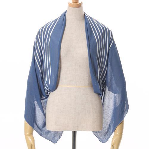 【百倉日本舖】日本進口 抗UV 涼感條紋針織圍巾/披肩/罩衫