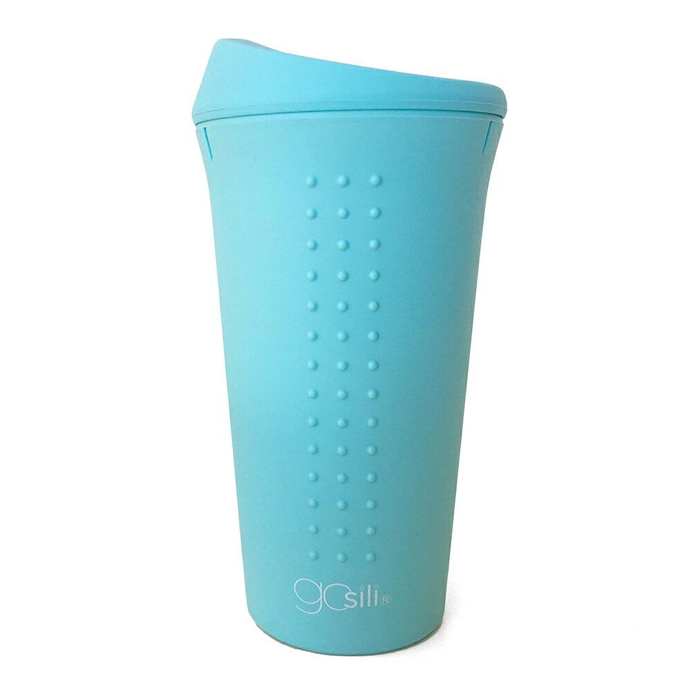 美國gosili/silikids ❚ 16oz ❚TOGO矽膠隨行杯--天空藍 Unicorn