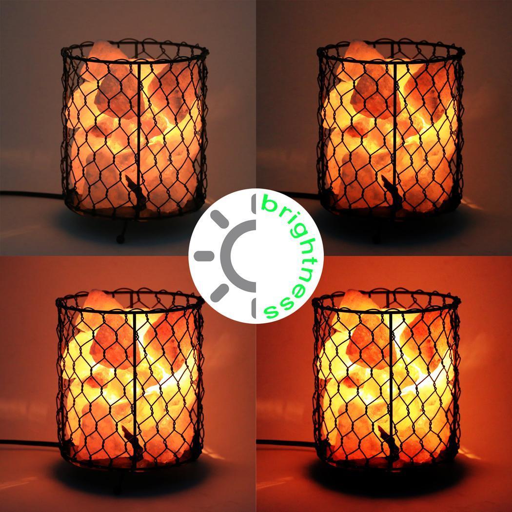Salt Home Lamp Metal Basket US Plug 0