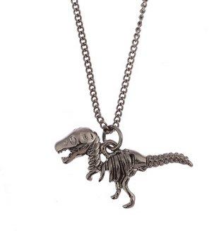 槍黑 小恐龍 鎖骨鏈 女 男生也可以帶 小短鏈 項鍊 歐美款