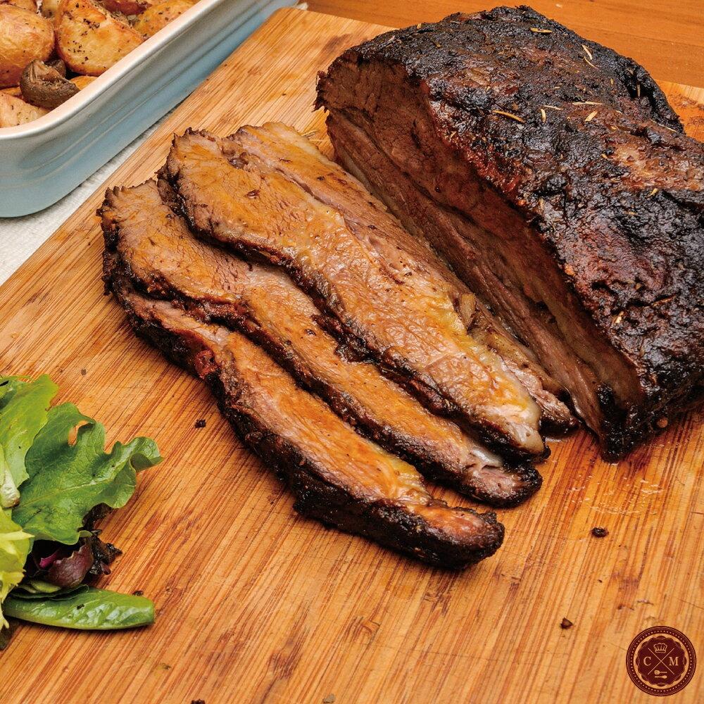 【火星小廚*德州煙燻牛胸肉】2-4人分享X美國IBP牛肉X獨家的抹醬X,煙燻10小時X BBQ醬汁