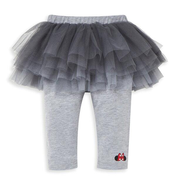 Disney米妮系列跳舞女孩假二件蓬紗裙-麻花灰