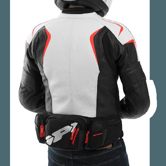 ~任我行騎士部品~義大利 SPIDI Pouch 3.0 黑紅 騎士腰包 單肩 後背 3公升 透氣 輕便