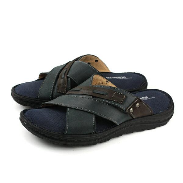 HUMANPEACE拖鞋深藍色男鞋FDMS1708-Zno116