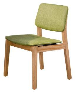 【石川家居】YE-A474-09史蒂夫原木亞麻皮餐椅(綠皮)(單張)(不含餐桌與其他商品)台北到高雄搭配車趟免運