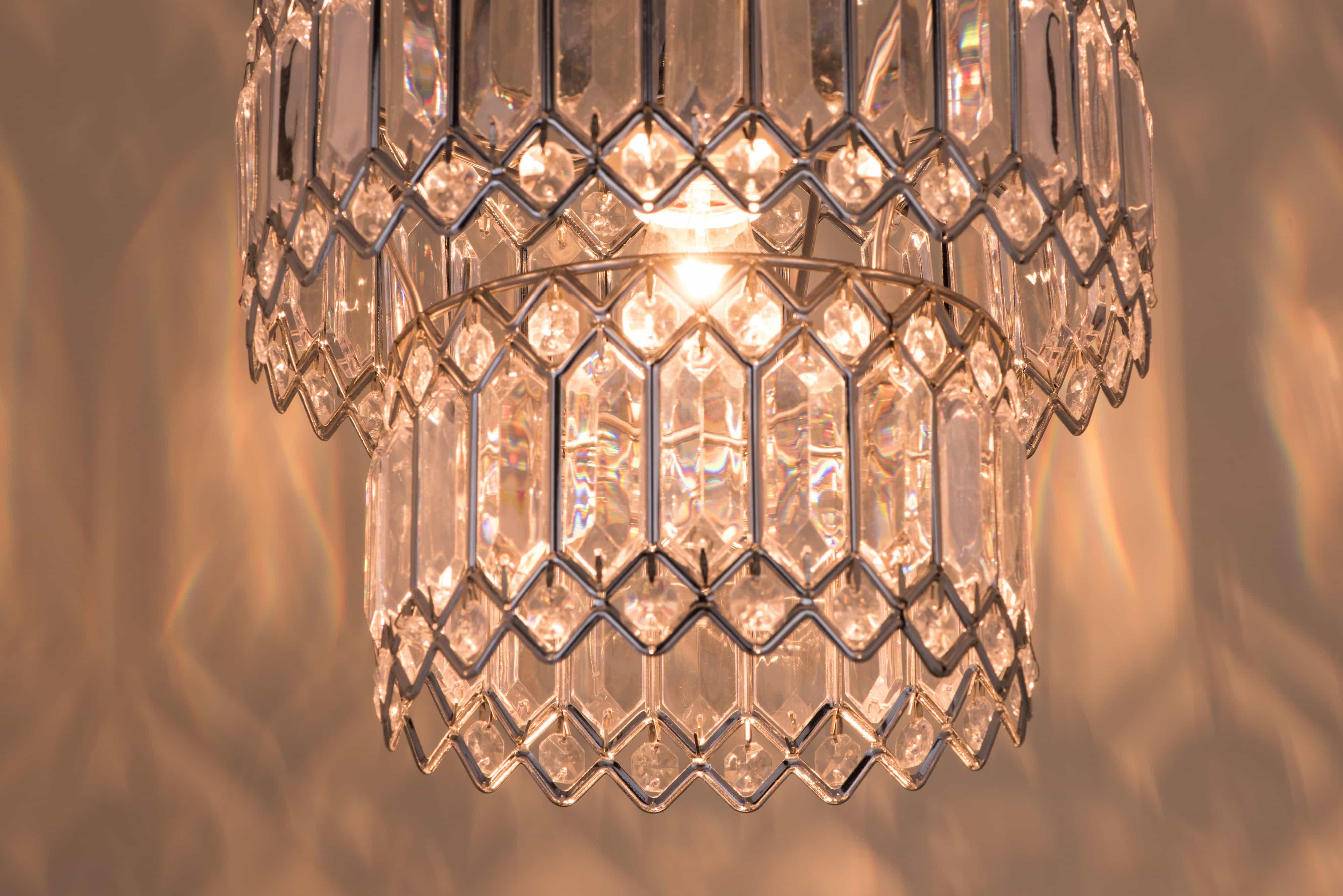 鍍鉻銀鐵花邊透明壓克立吊燈-BNL00056 3