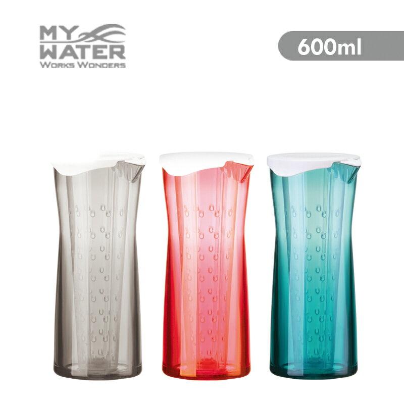 MY WATER 泡茶趣花茶壺600ml 3色