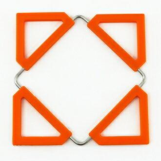 ~珍昕~ 矽膠變型隔熱墊~3色 藍.橘.綠 ^(16.5x16.5cm 12x12cm^)