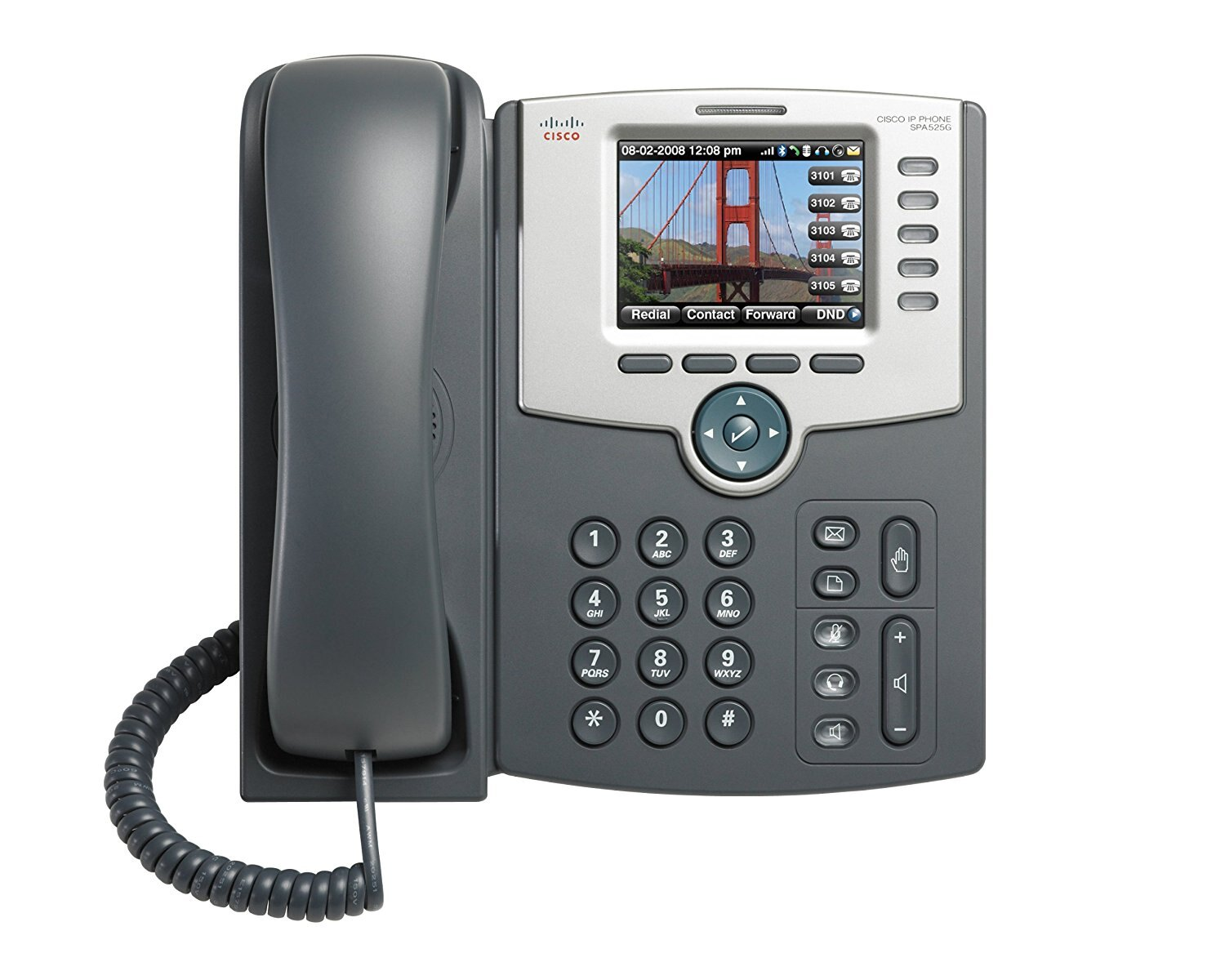 Cisco SPA525G2 | 5-Line IP Phone w/ Color Display , Power supply not included 0