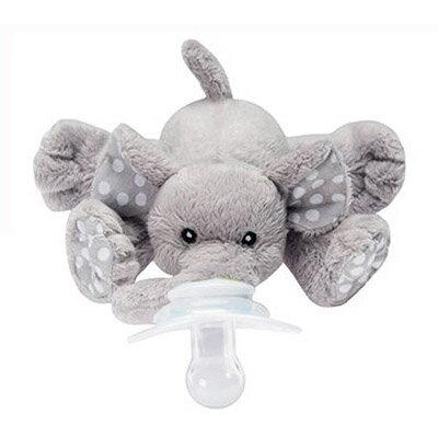 【悅兒園婦幼生活館】美國nookums 安撫奶嘴玩偶-小灰象