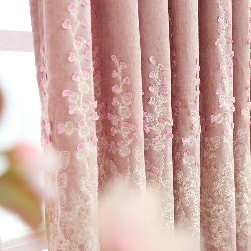 艾麗卡-紗需要幾米拍幾米(加工費另算)歐式豪華雪尼爾窗簾 韓式田園遮光成品浮雕窗簾布客廳臥室落地窗