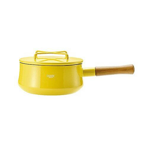日本 DANSK 單柄琺瑯鍋 2200ml (黃色)
