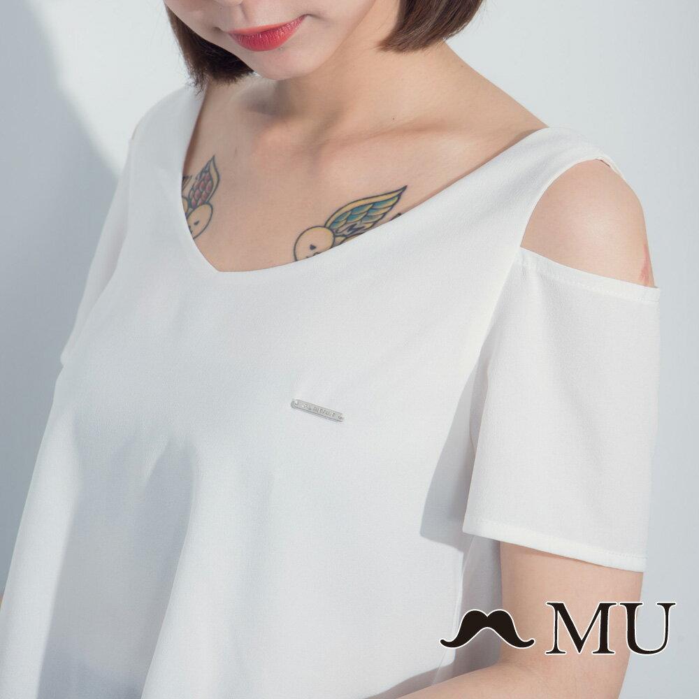 【MU】假兩件露肩格紋裙擺洋裝 7317165 2