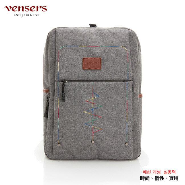 【vensers】簡約丹寧牛仔後背包(R00066302淺灰) 0
