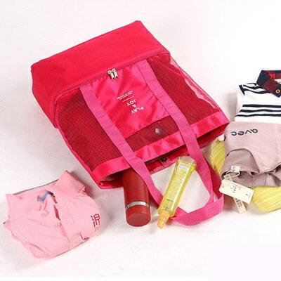 保溫袋 手提野餐包-純色網面防水雙層女單肩包4色73pp503【獨家進口】【米蘭精品】 2