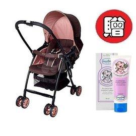 【+贈貝恩嬰兒水漾保濕調理乳液】 愛普力卡 Aprica Karoon 629 超輕量雙向平躺型嬰幼兒手推車(浪漫粉紅) 6450元