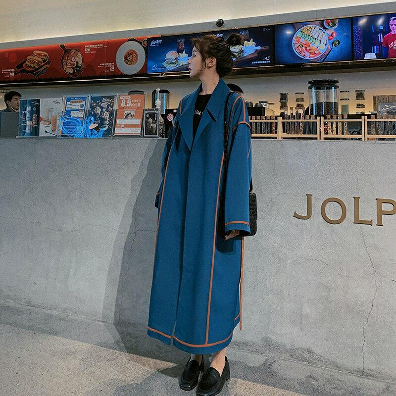 風衣外套長版大衣-薄款寬鬆工裝復古女外套73yr11【獨家進口】【米蘭精品】