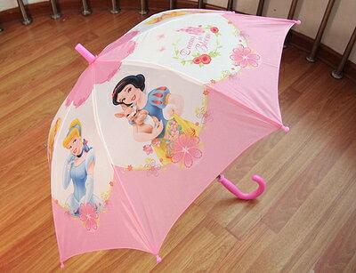 迪士尼兒童傘雨傘直傘自動長柄直柄-公主系列