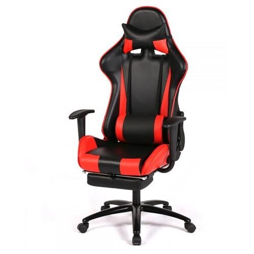 High Back Computer Gaming Racing Chair Ergonomic Design 180 Degrees Recline Red