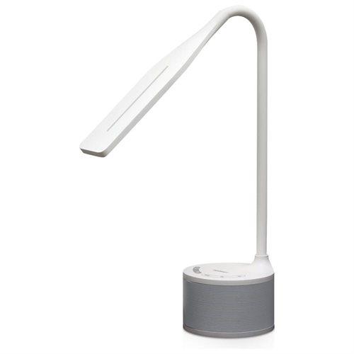 Tenergy Portable LED Desk Lamp Gooseneck Light With Built In Bluetooth  Speaker 2