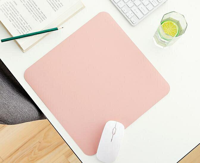 滑鼠墊 小號皮質純色簡約男女生筆記本電腦學生辦公鼠標墊定制