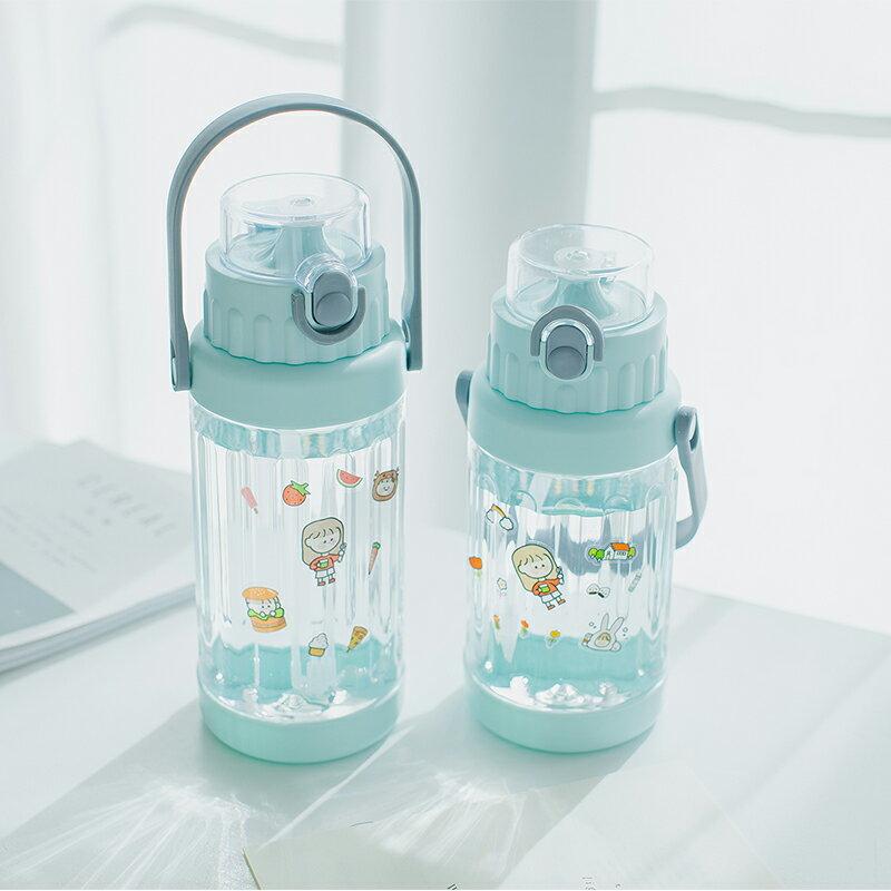 超大容量水杯子女帶吸管2000ml便攜夏季戶外耐高溫男健身運動水壺