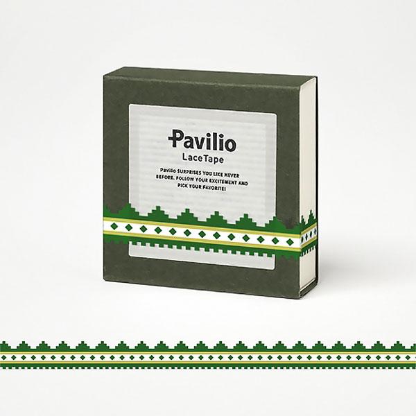 【日本Pavilio】風格膠帶MINI系列F-MI15NG北歐綠捲