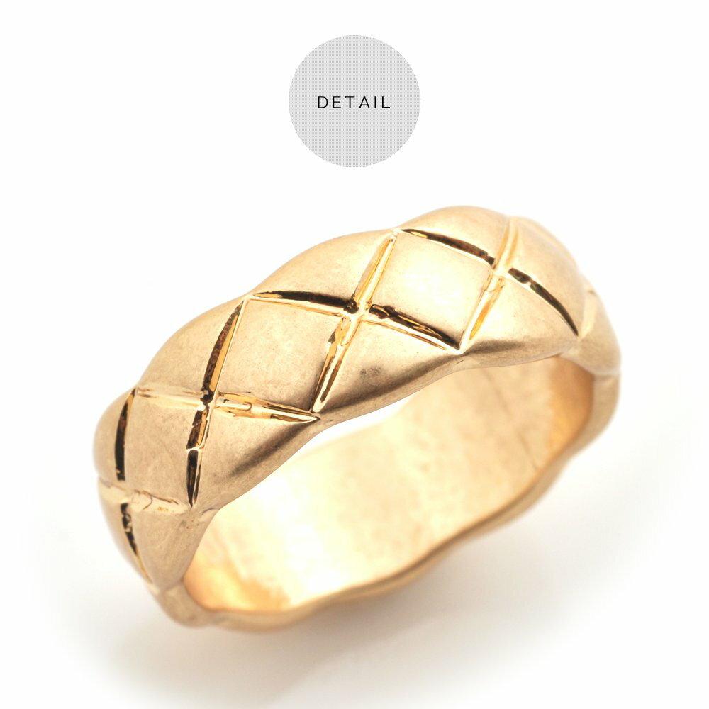 日本CREAM DOT  /  リング 指輪 金属アレルギー ニッケルフリー アクセサリー ボリューム 太め ごつめ 幅広 メンズライク 12号 メタル ゴールド シルバー シンプル 重ねづけ 上品 お呼ばれ 小物 ギフト 大人 レディース 女性  /  qc0434  /  日本必買 日本樂天直送(1190) 4