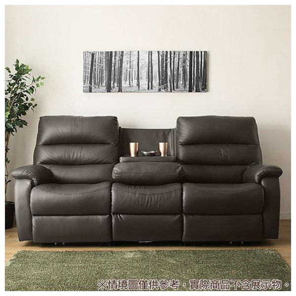 ◎(OUTLET)全皮3人用頂級電動可躺式沙發 BELIEVER DBR 福利品 NITORI宜得利家居 4